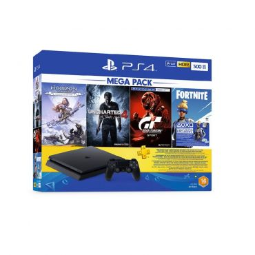 Sony PlayStation 4 500Gb + 3 Games + Fornite Voucher